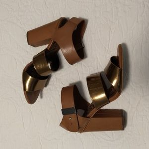 Sam Edelman gold Strappy Heels